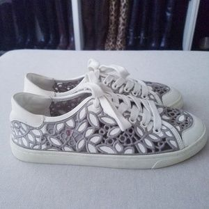 a6180f289f0 Tory Burch Shoes - Tory Burch Rhea Floral Lace Sneakers Shoes